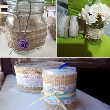 10 Meter Party Supplies Wedding Burlap Ribbon Natural Jute Roll Party Cake Decoration Christmas Tree Decorations
