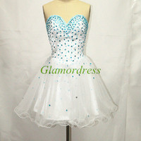 sweetheart cocktail dresses short homecoming dress o rganza gowns for prom with rhinestones amazing party dress