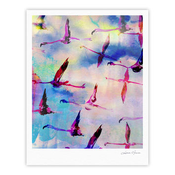 "Nikki Strange ""Flamingo in Flight"" Fine Art Gallery Print"