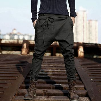 Mens Fashion Joggers Patchwork Casual Drawstring Sweatpants Work Trousers