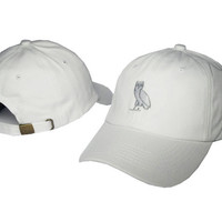 Drake OVO CLASSIC GOLD OWL White SNAPBACK Caps Casquette OVO CORE COLLECTION HATS STRAPBACK SPORT CAPS Baseball Cap PP