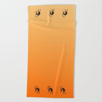 Black Cat 01 Beach Towel by Zia