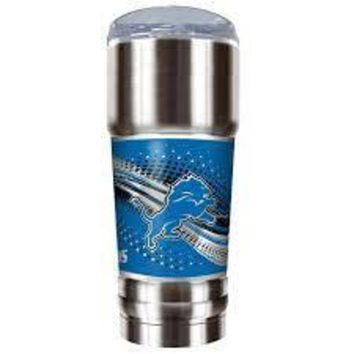 LMFON NFL Detroit Lions The Pro 32 Ounce Vacuum Insulated Stainless Steel Tumbler