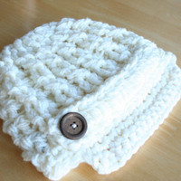 Crochet Newsboy hats for newborns and babies, crochet newsboy cap, knit hat for babies, hat for baby boys, hats for babies and toddlers