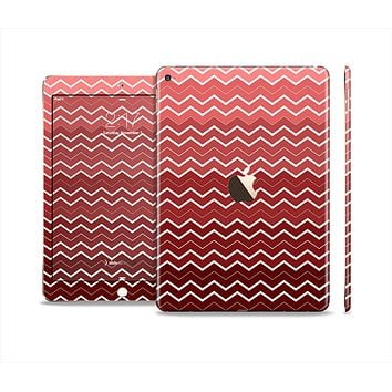The Red Gradient Layered Chevron Skin Set for the Apple iPad Air 2
