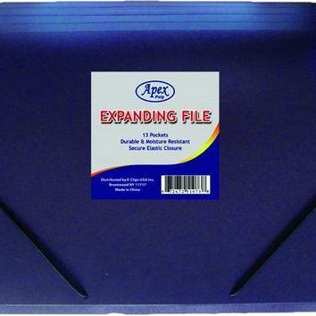 """Expanding File - 13 Pockets - 12 3-4"""" x 9 1-4 - CASE OF 16"""