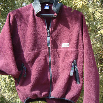Sierra Designs Vintage Maroon Fleece 90s Clothing