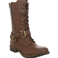 Brown Oracle Combat Boot | Hot Topic