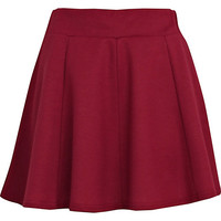 River Island Womens Dark pink panelled skater skirt