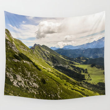 Wall Tapestry, Mountain Tapestry, Wall Hanging, Clouds, Sky, Nature Photogrphy Wall Art, Large Photo Wall Art, Modern Tapestry, Home Decor