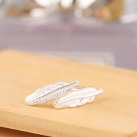 Fashion Mini feathers earring hot Literature and art simple women's earrings