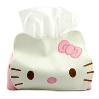 Hello Kitty Leather Tissue Box Cover Holder Table Decoration Cute