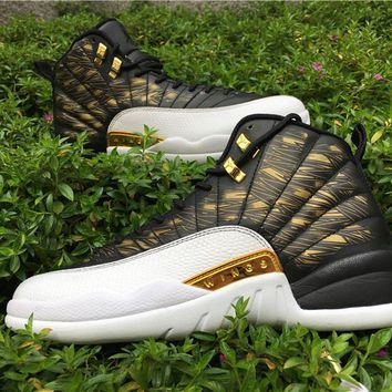 [ FREE SHIPPING ] AIR JORDAN 12 (WINGS / WHITE / METALLIC GOLD) SNEAKER 848692-033