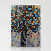 :: Stained Glass Tree :: Stationery Cards by :: GaleStorm Artworks ::