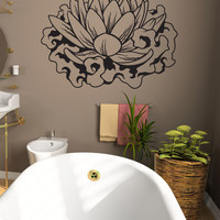 Vinyl Wall Decal Sticker Smoke Lotus #1449
