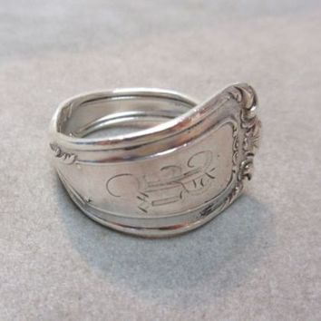 Antique Reed & Barton CHAMBORD Heavy Solid Sterling Silver 925 Spoon Mens Ring