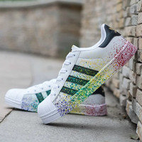 "Fashion ""Adidas""  Reflective Shell-toe Flats Sneakers Sport Shoes [9239190087]"