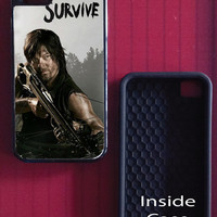 THE WALKING DEAD Daryl Dixon Survive. Hard Case for iPhone 4, 4s, 5, 5s or 6
