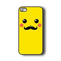Pikachu With Mustache iPhone 5 Case - Fits iPhone 5