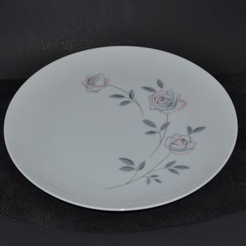 "Noritake Dinner Plate - Roselin Pattern - 10 5/8"" Stylized Rose - 7 Plates Available - Buy 1 or More!"
