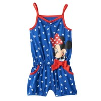 Disney's Minnie Mouse Starfish & Seashell Romper - Baby Girl, Size: