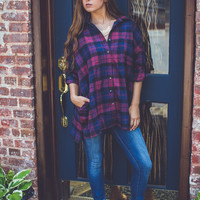 Classic Boxy Flannel in Red
