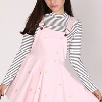 Pale Pink Daisy Pinafore