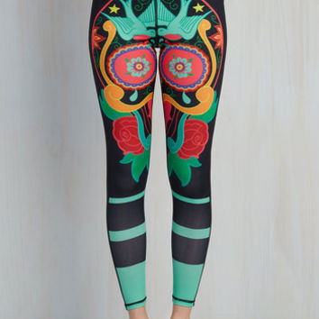 90s Skinny Colorful Conditioning Athletic Leggings