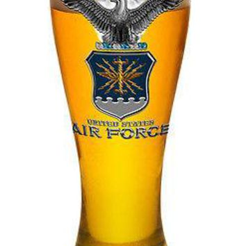 US AIRFORCE WITH EAGLE-   PILSNER BEER GLASS
