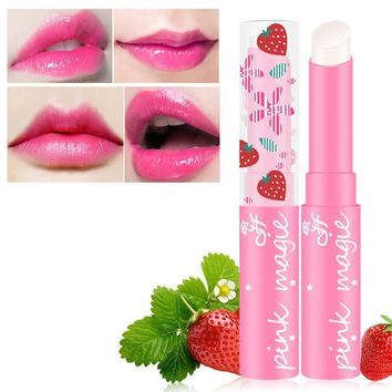 Strawberry Color Magic Temperature Change Moisturizing Lipstick