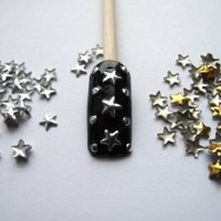 Leegoal Fashion 3D Design Golden/Silver Metallic Studs Nail Art Stickers(Gold&Silver,5 set of)