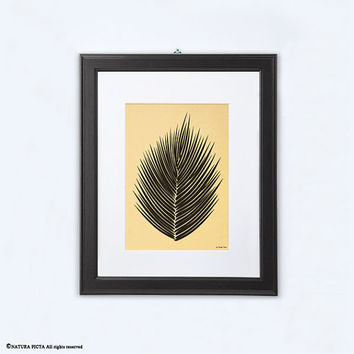 Palm leaf print-gold print-scandinavian print-home decor-tropical print-botanical print-leaf print-nature print-leaf art-NATURA PICTA-NPG002