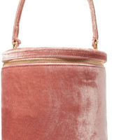 STAUD - Vitti crushed-velvet tote