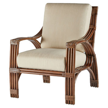Alexa Rattan Lounge Chair, Cinnamon, Accent & Occasional Chairs