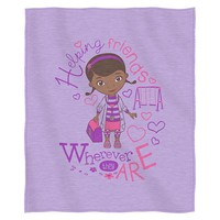 Disney Doc McStuffins Doc Love Sweatshirt Throw (Purple)