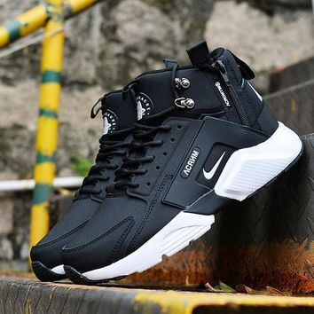 Nike Huarache X Acronym City Mid Leather Black White