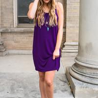 Everyday Sleeveless Dress Purple