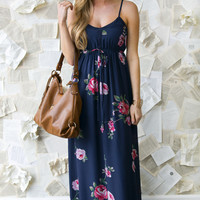 Strike A Rose Maxi Dress