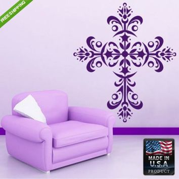 Wall Vinyl decal Decal Sticker Tribal Symbol Tatoo Cross Decal z108