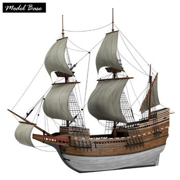 Wooden Ship Models Kits Adult Diy Kids Educational Toys Scale 1/96 Medel Ship Wood 3d Laser Cut Mayflower Wooden Boat Model Kit