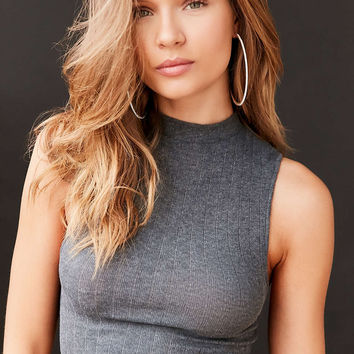 Out From Under Shrunken Mock Neck Top - Urban Outfitters