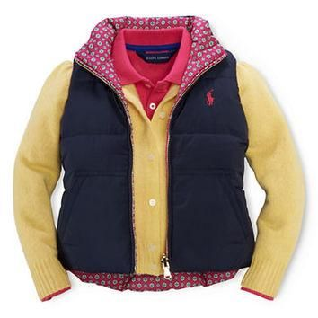 Ralph Lauren Childrenswear Girls 2-6x Reversible Quilted Vest