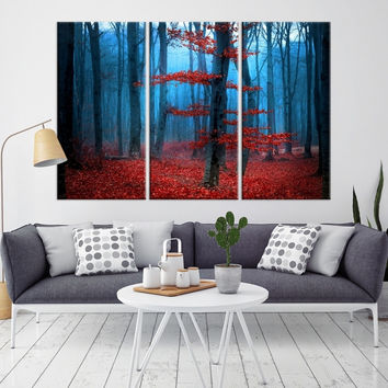 84864 - Forest Wall Art- Autumn Canvas Print- Forest Canvas- Forest Canvas Art- National Art Print- Canvas Print- Large Wall Art-