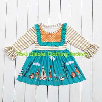 Discount ON SALE thanksgiving dress hot sale high quality cotton dress