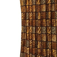 Park Avenue Deluxe Collection Park Avenue Deluxe Collection Shower Stall-Sized EZ-ON?  inch Wild Encounters inch  Polyester Shower Curtain