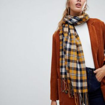 New Look Check Scarf at asos.com