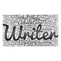 Modern Black and White Word Cloud Writers Authors Business Card