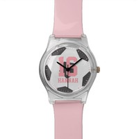 Pink Soccer Jersey Number Watch