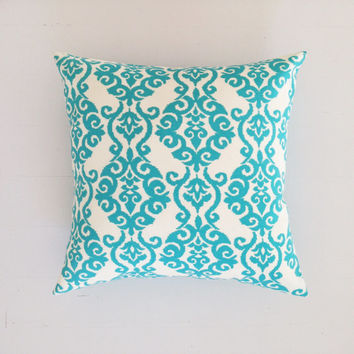 Outdoor cushion - turquoise baroque designer cushion cover 50 x 50 cm - FREE SHIPPING Australia wide