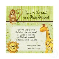 Jungle Babies, Boy Baby Shower Invitation - Green from Zazzle.com